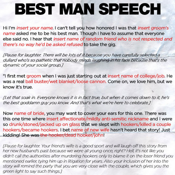 Funny Best Man Speech Quotes. QuotesGram