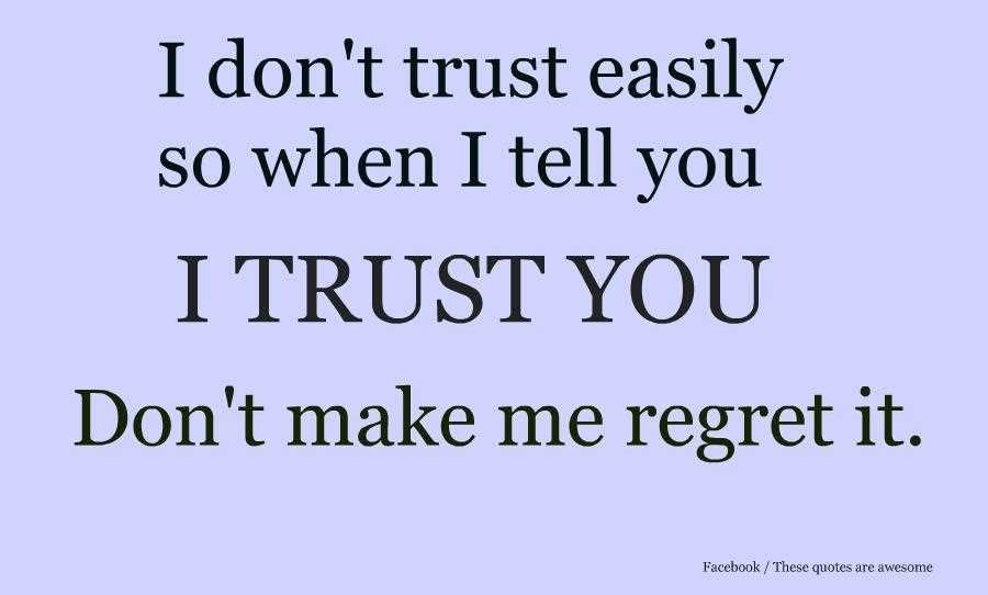 Trust Quotes And Sayings: Quotes About Building Trust. QuotesGram