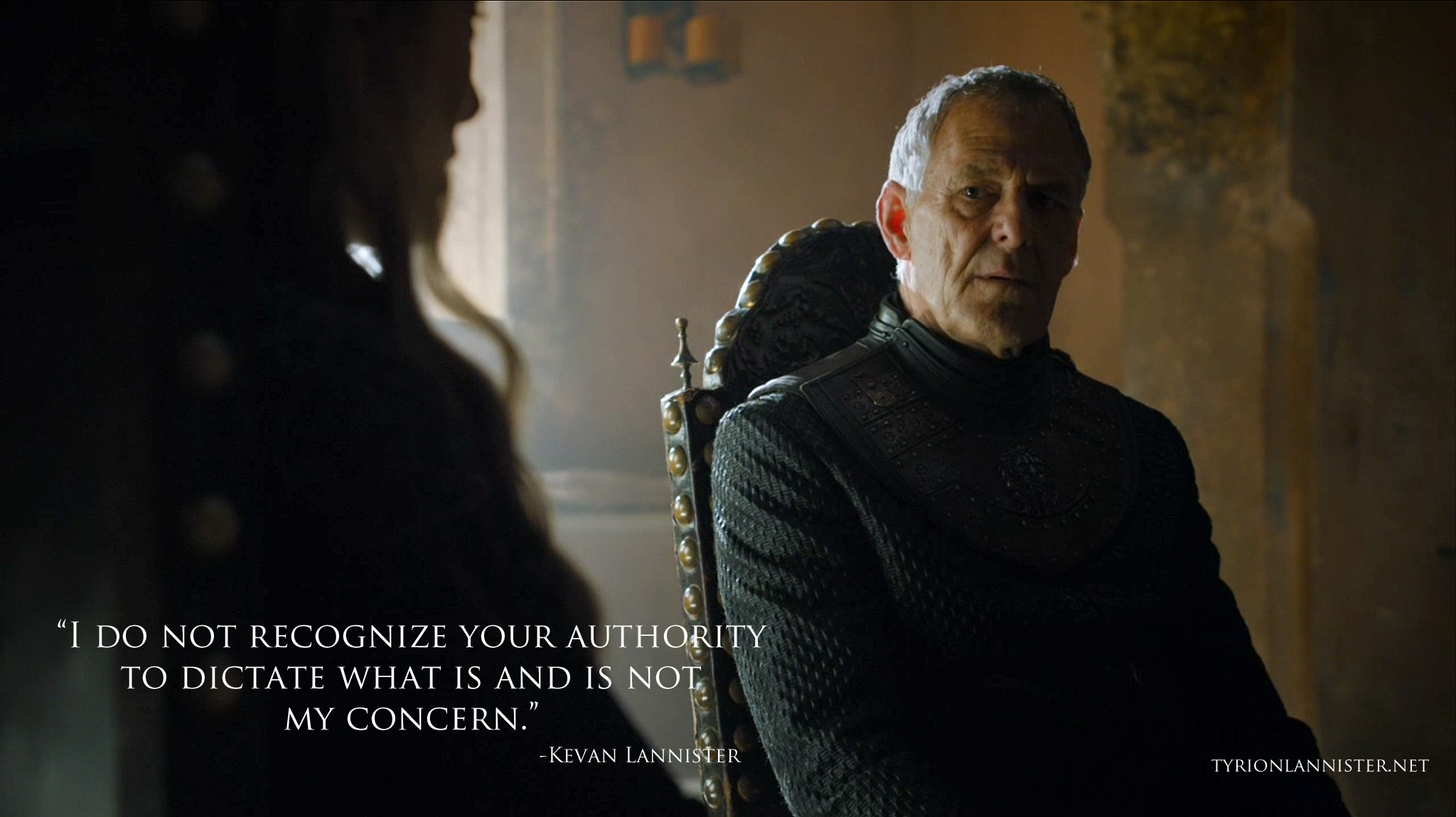 Kevan Lannister Game Of Thrones Tywin Lannister Quotes...