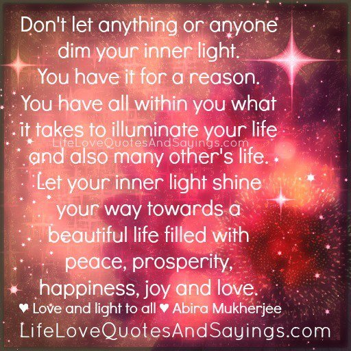 Love Quotes About Life: Quotes About Love And Light. QuotesGram