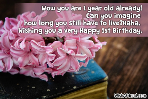 1 Year Old Birthday Quotes Quotesgram