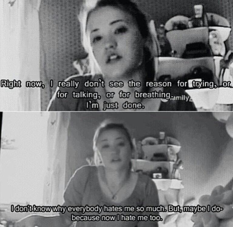 Sad Depressing Quotes Suicidal: Movie Quotes About Depression. QuotesGram