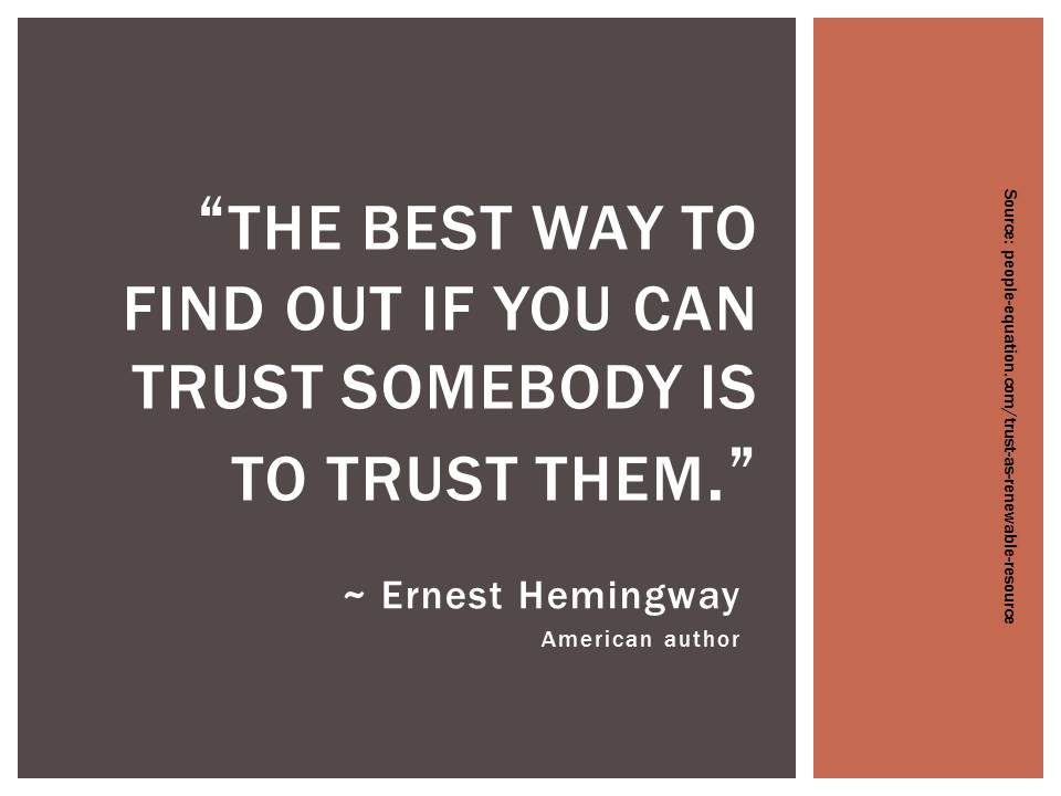 Trust In The Workplace Quotes. QuotesGram