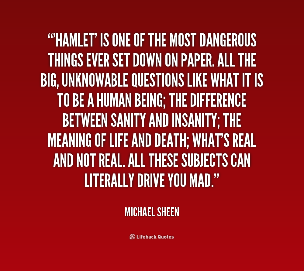 hamlet is hamlet sane essay Hamlet essays on madness - high-quality assignment writing and editing help -  we can write you high-quality writing assignments for me best paper.