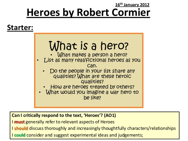 hero defined essay In classic hero mythology, heroes receive assistance for someone older,  this essay represents the first collaboration between rick hutchins and scott allison.