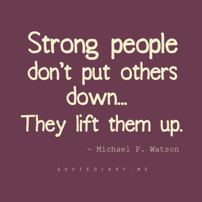 how to stop putting others down