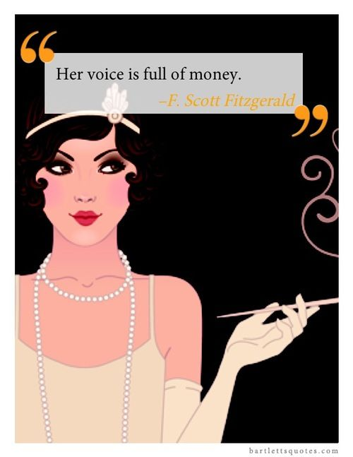 How did Gatsby describe Daisy's voice in The Great Gatsby?