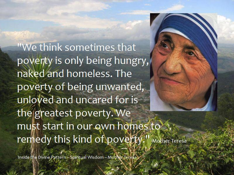 Mother Teresa Quotes On Poverty Quotesgram