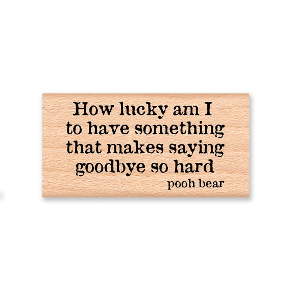 Pooh Quote About Saying Goodbye: I Am So Lucky To Have You Quotes. QuotesGram