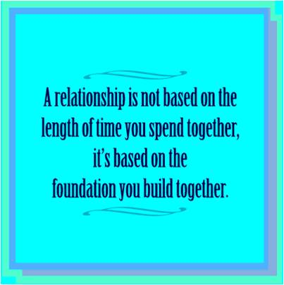 how to build a good foundation for relationship