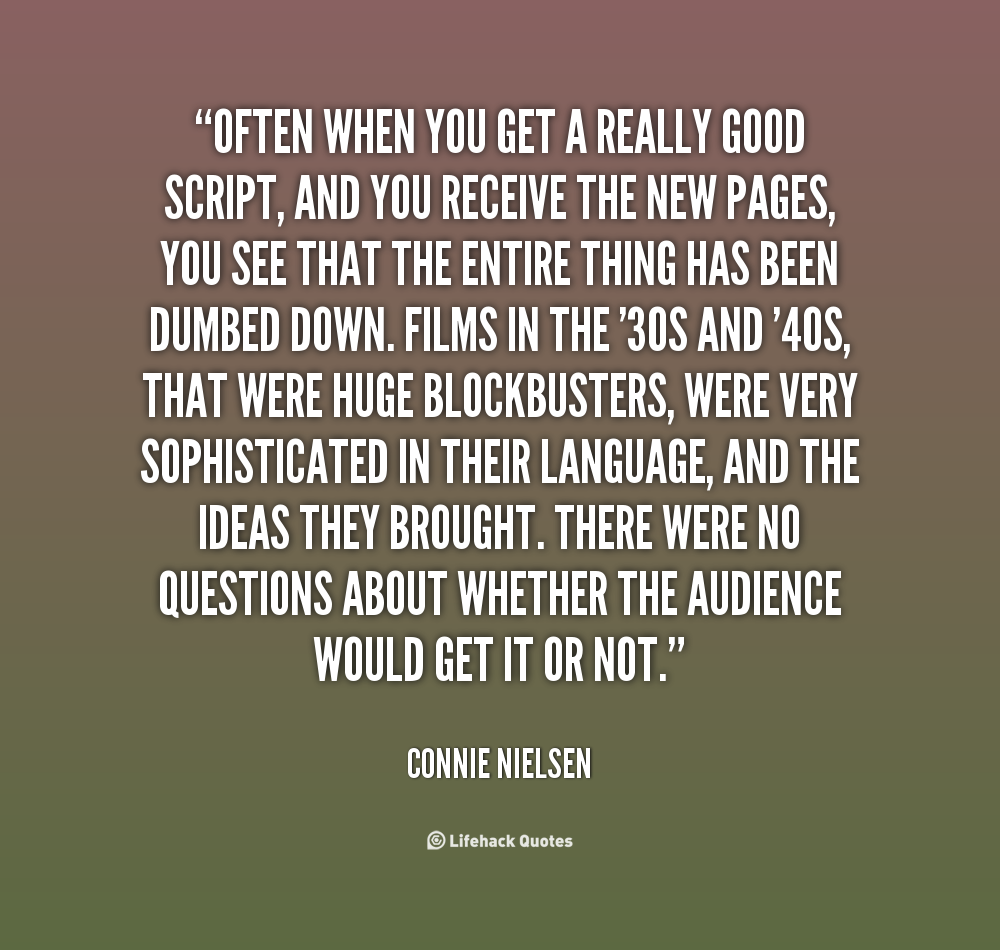 Very Great Quotes: Connie Nielsen Quotes. QuotesGram