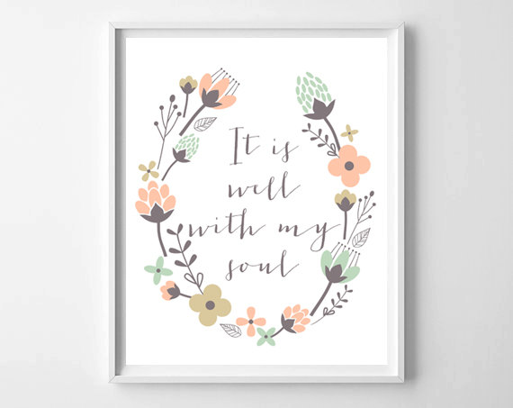 It is a graphic of It is Well With My Soul Printable pertaining to free printable
