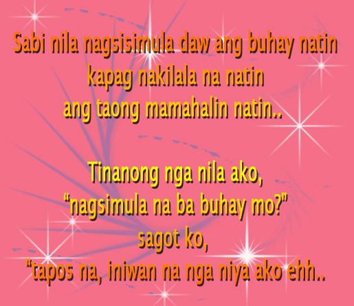 Sweet love letter tagalog