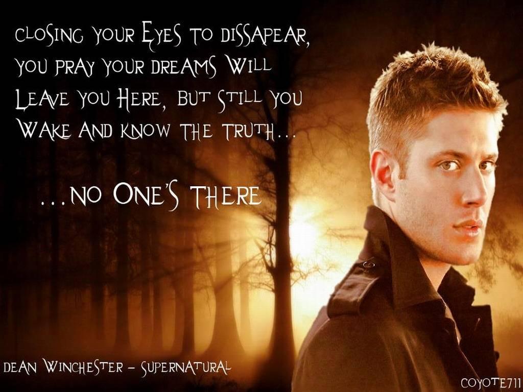 Dean Sad Supernatural Quotes. QuotesGram