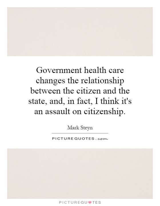 proper relationship between citizen state