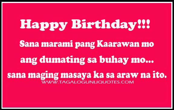 Tagalog Birthday Quotes Quotesgram