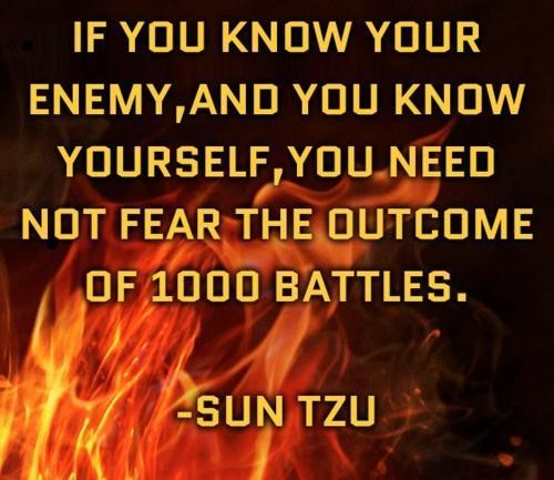 Art Of War Quotes Know Your Enemy: Know Yourself Sun Tzu Quotes. QuotesGram