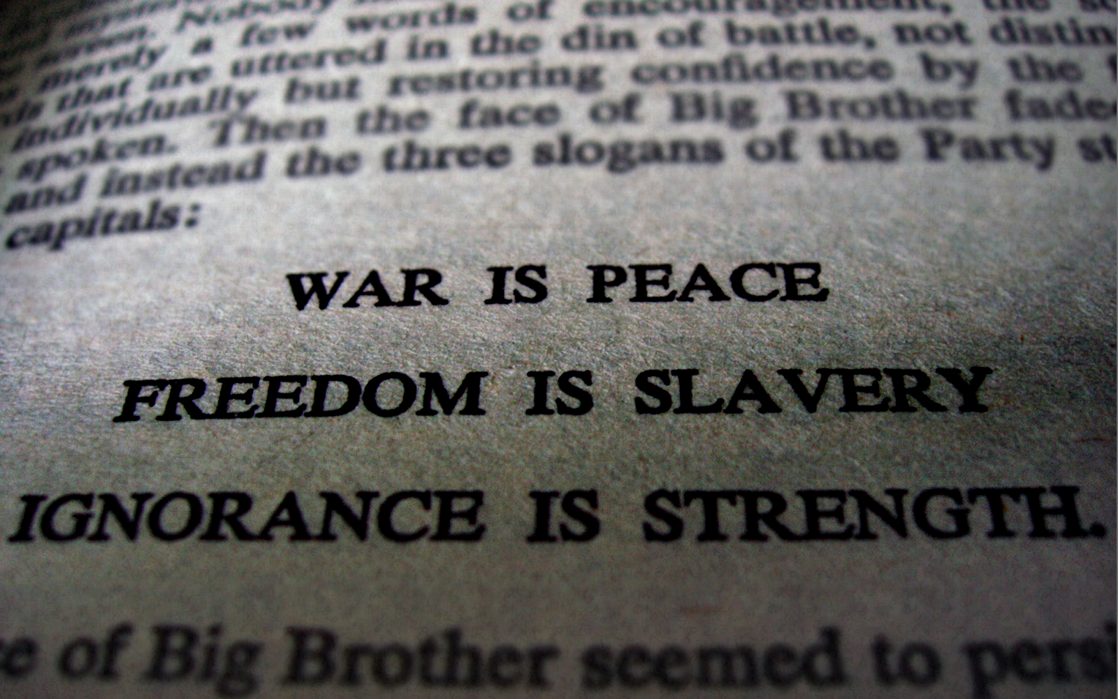 the portrayal of world where their is no personal freedom in 1984 Let's apply them to orwell's 1984, as well how 1984 fits the dystopian genre in 1984, the ministry of truth puts forth propaganda about the war with eurasia and presents the party that runs society in only the best possible light, leaving out information about the torture of citizens or the economic struggles facing most of the population it is.