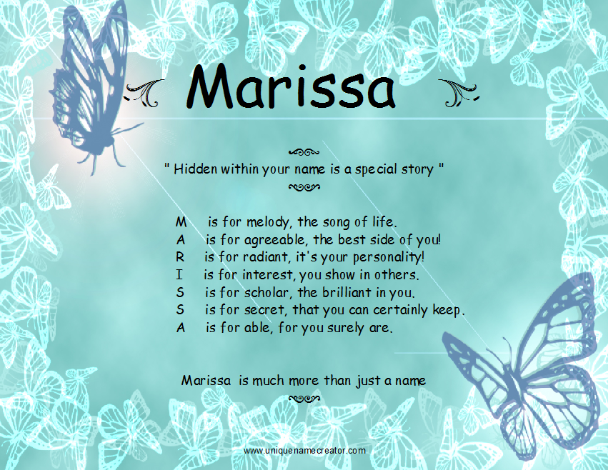 marissa the name of picture quotes quotesgram. Black Bedroom Furniture Sets. Home Design Ideas