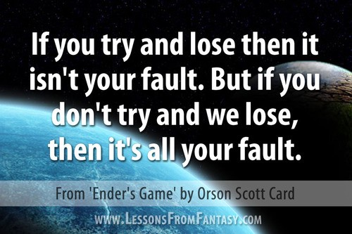 Bean Enders Game Quotes. QuotesGram