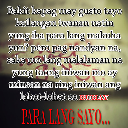 Sad Tumblr Quotes About Love: Love Quotes Tagalog Sad Story. QuotesGram
