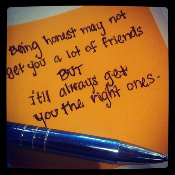Friends Honesty Quotes. QuotesGram