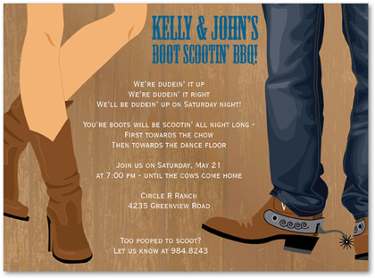 Informal Western Wedding Invitation Wording New Wedding – Cowboy Party Invitation Wording