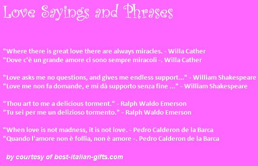 Beautiful Italian Quotes About Love Quotesgram