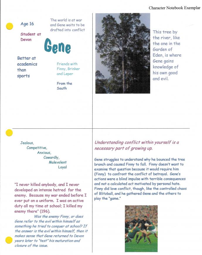 a separate peace analysis This is a blog dedicated to john knowles' a separate peace here you will find our analysis of components or themes found in the book, and our view and interpretations of events in the book.
