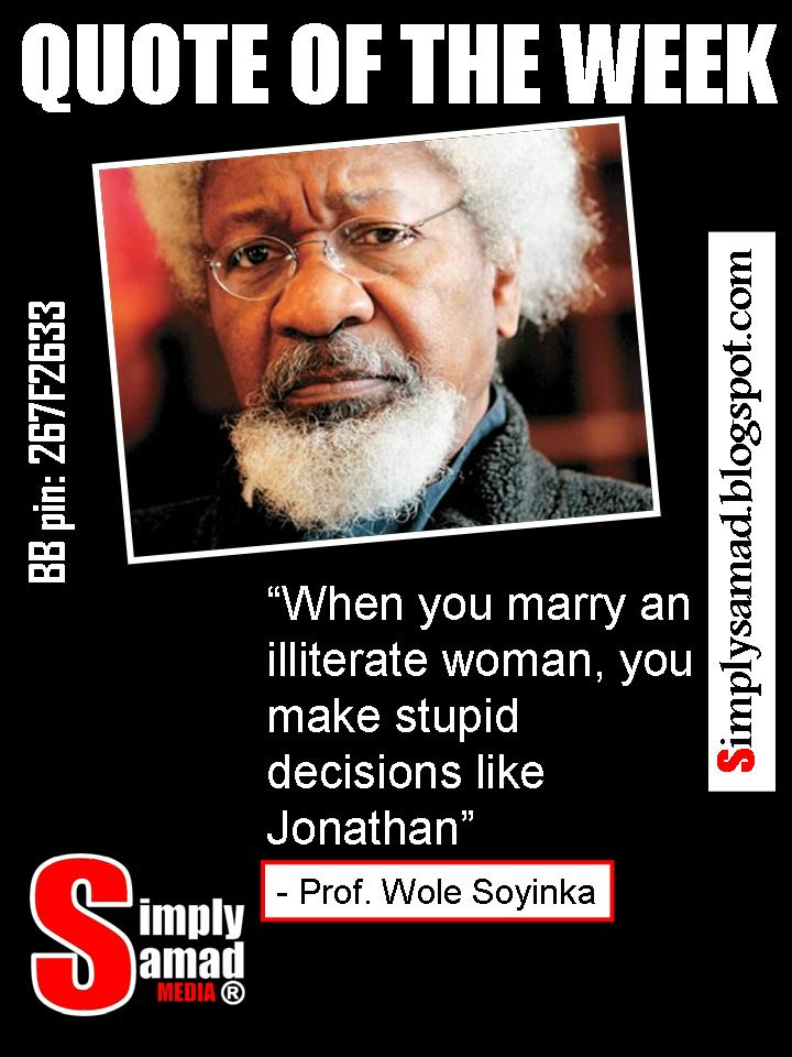 essay professor soyinka wole Wole soyinka is among contemporary africa's greatest writers he is also one of the continent's most imaginative advocates of native culture and of the humane social order it embodies.