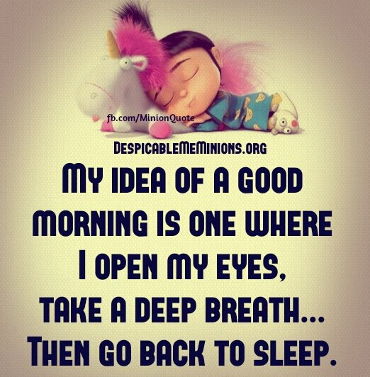 Quotes About Love: Minion Quotes Sleep. QuotesGram