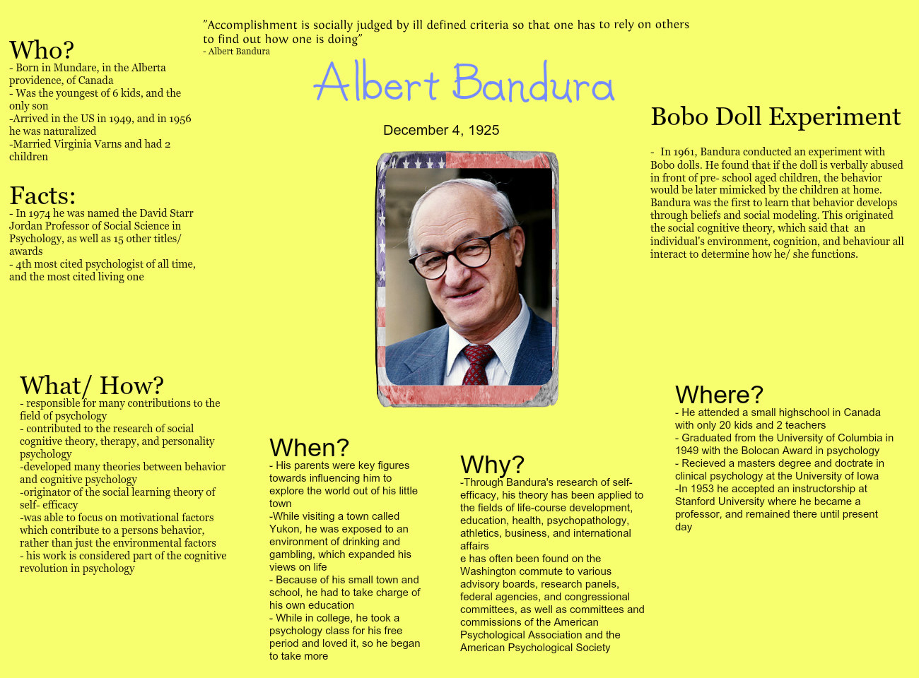 essays social learning theory of albert bandura Social learning theory custom essay sample derived from albert bandura's work, the social learning theory states that people usually learn within a social.