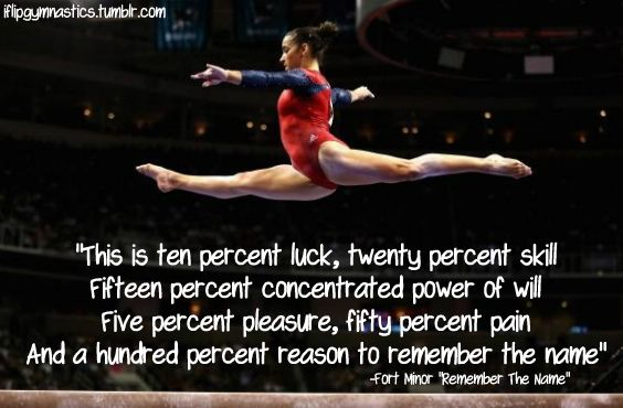 Gymnast With Name Famous Quotes Quotesgram