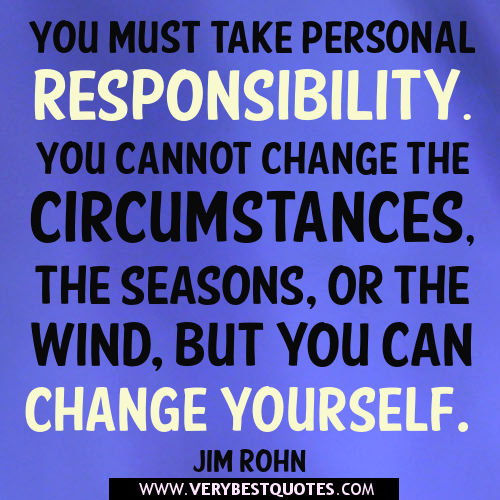 Motivational Quotes Responsibility. QuotesGram