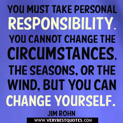 motivational quotes responsibility quotesgram