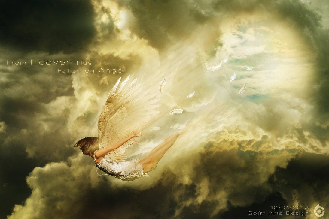 культура картинки ангелы упали с небес золотыми красными шарами