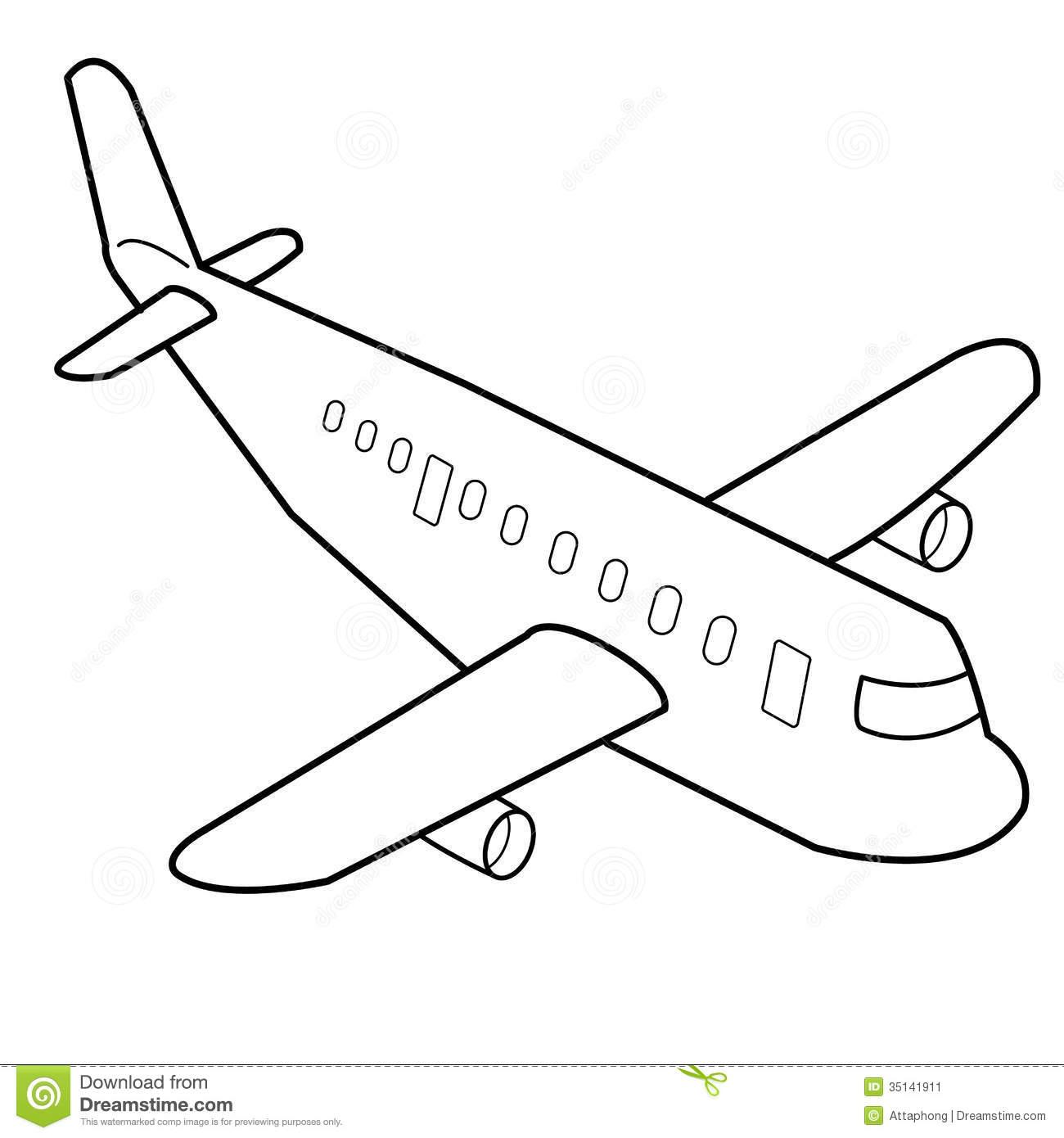 cartoon airplane crash drawing
