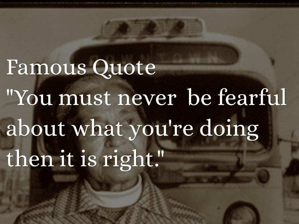 Rosa Parks Famous Quotes. QuotesGram