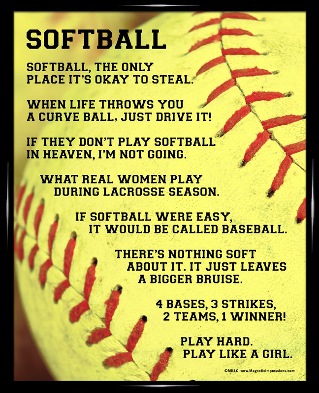 I Like A Girl Quotes: Softball Quotes Funny. QuotesGram