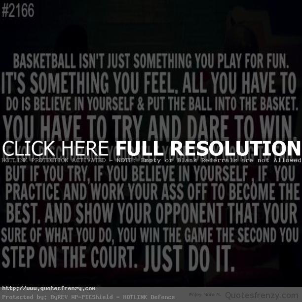Motivational Quotes For Sports Teams: Basketball Team Quotes. QuotesGram
