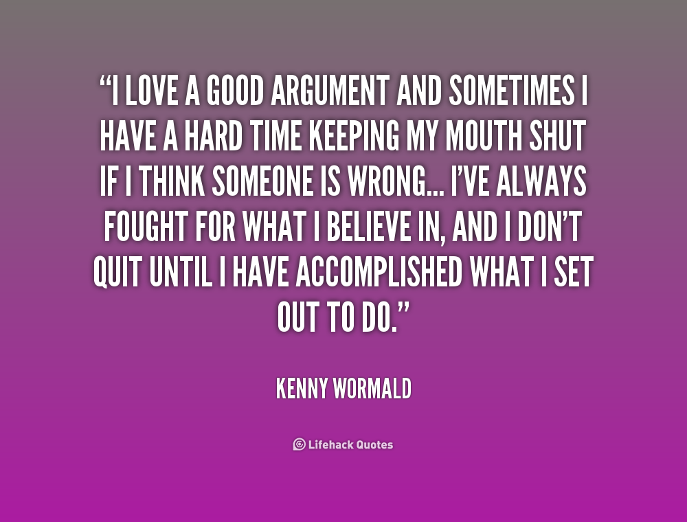 relationship quotes about arguments