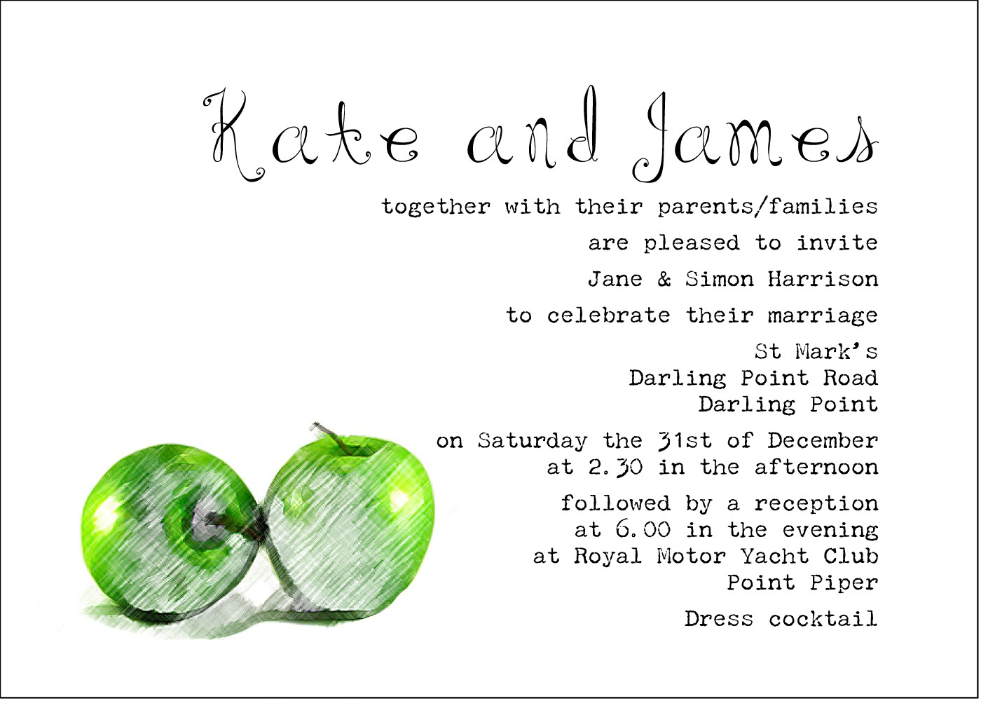 Wedding Invitation From Bride And Groom