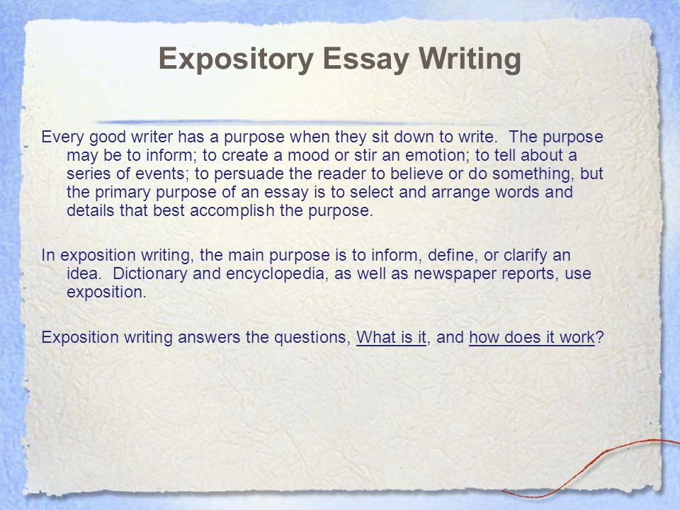 Writing a good expository essay