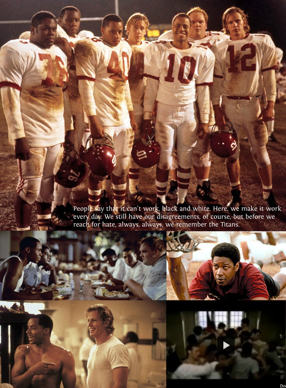remember the titians Is remember the titans family friendly find out only at movieguide the family and christian guide to movie reviews and entertainment news.