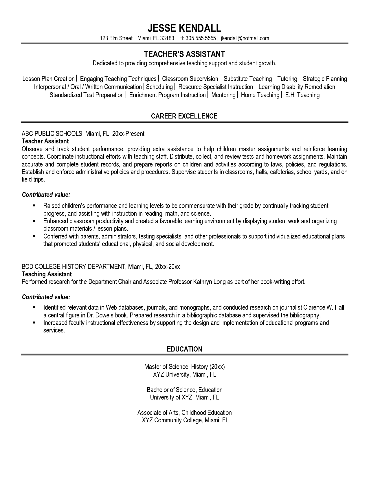 Sample Personal Statement For Resume – Personal Statement for Resume Examples