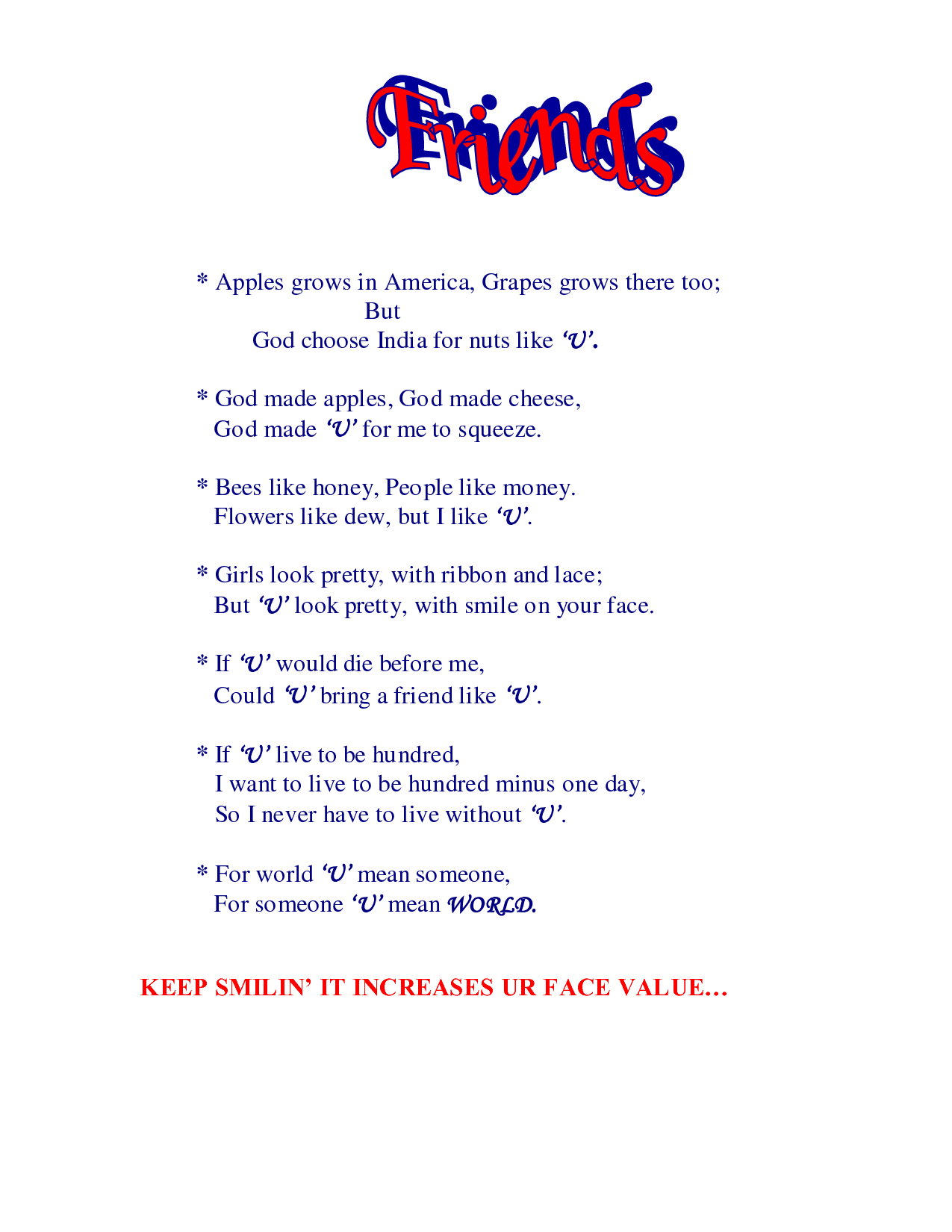 Friendship Quotes And Poems Funny : Funny friend quotes that rhyme quotesgram