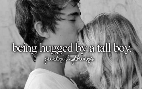 Short girl guy hugging tall How to