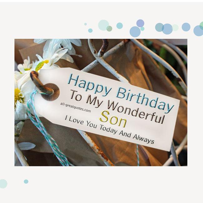 Happy Birthday Son Quotes. QuotesGram