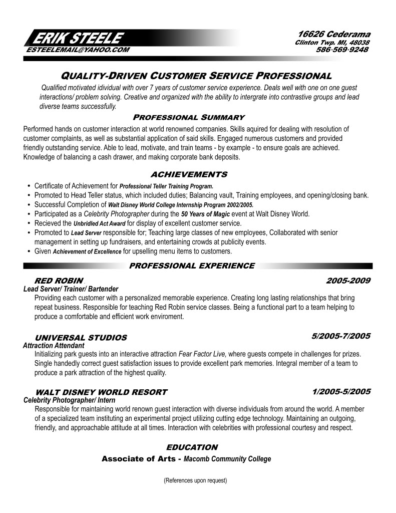 Resume Tips for Customer Service Representative