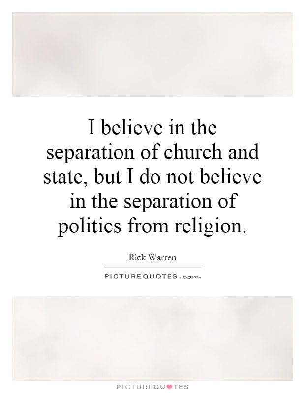 the separation of the church and the state essay Free essay: the separation of church and state america wastes a lot of time  trying to create a democracy completely absent of the moral expectations that our.